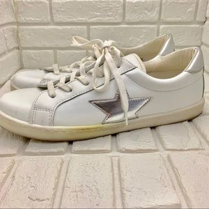 ASOS Shoes - ASOS star silver white sneakers tennis shoes